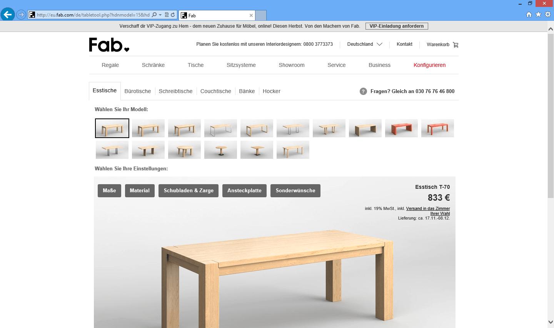 fab 3d konfigurator. Black Bedroom Furniture Sets. Home Design Ideas