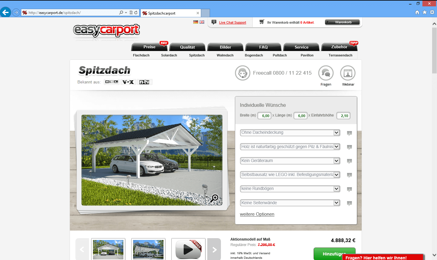 easycarport 3d konfigurator. Black Bedroom Furniture Sets. Home Design Ideas