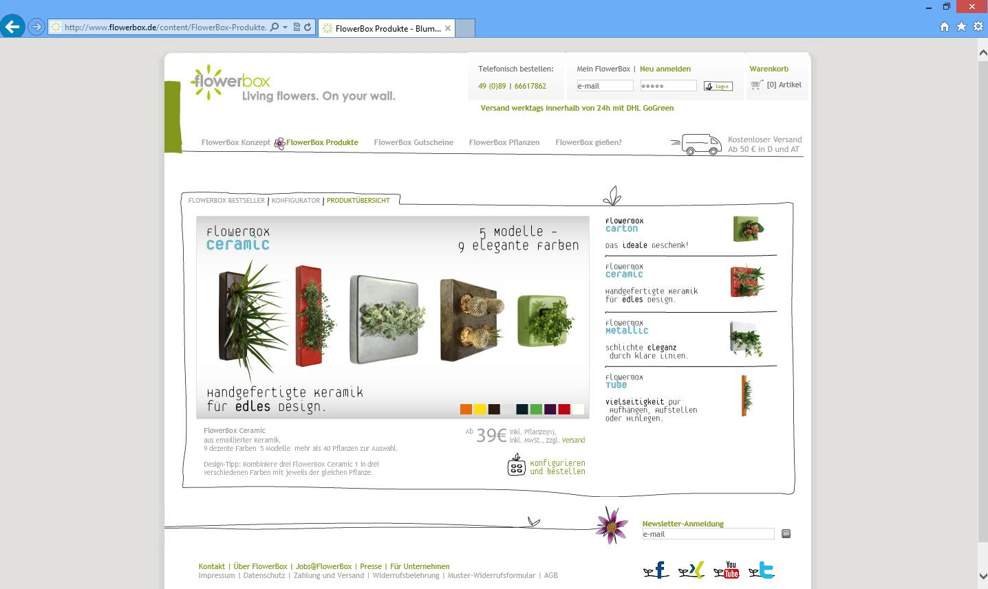 flowerbox 3d konfigurator. Black Bedroom Furniture Sets. Home Design Ideas