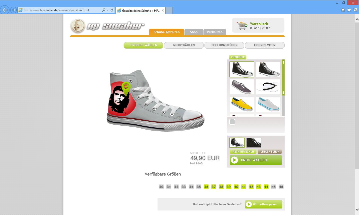 purchase cheap a42b8 71d16 HP Sneaker - 3D Konfigurator