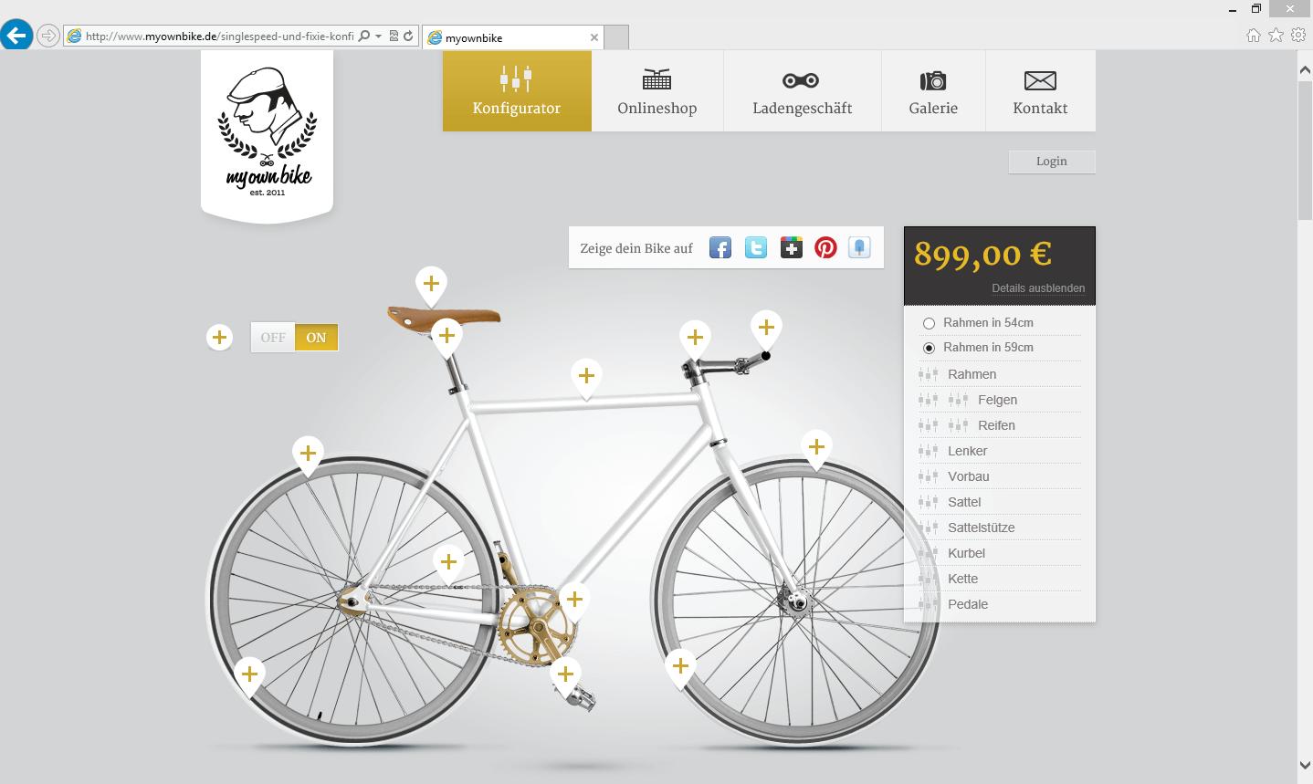 My Own Bike 3d Konfigurator