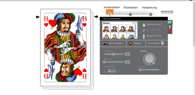 Piksieben 3d konfigurator3d konfigurator for Kartenspiel selbst gestalten